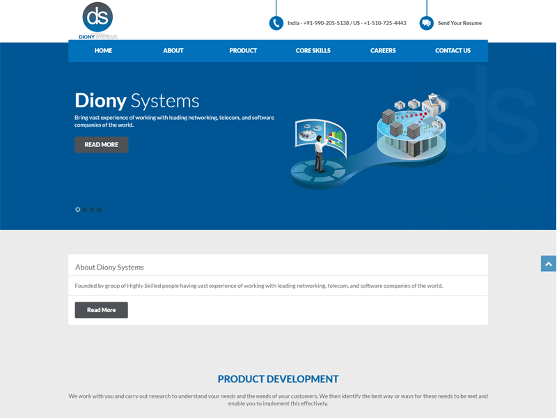 Diony System designed by GetPromoted