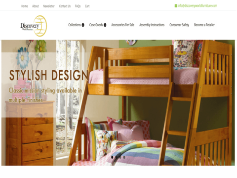 Website for furniture manufacturer