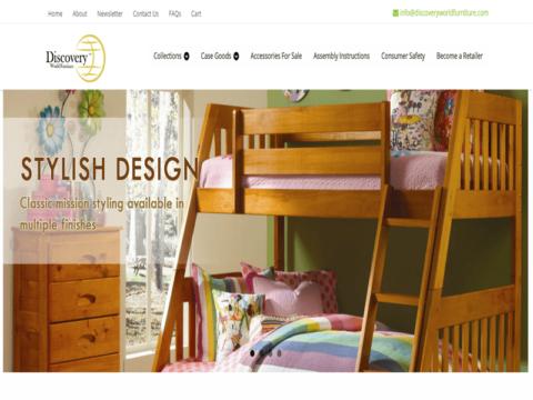 Website for furniture manufacturer