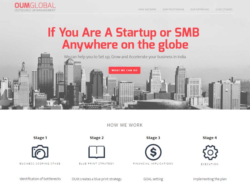 OUMGlobal website design