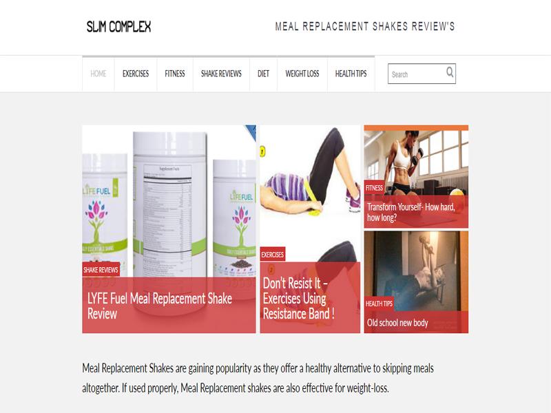 Slim Complex Website designed by GetPromoted