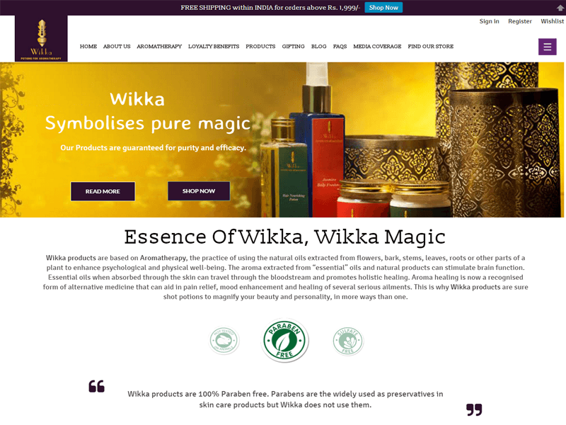 Ecommerce Website designed by GetPromoted