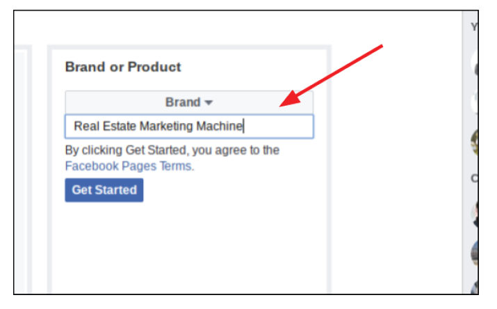 Step 3 (II) for setting up FB business page