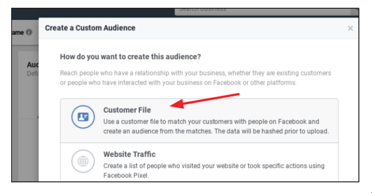 Step 6 for fb business setting