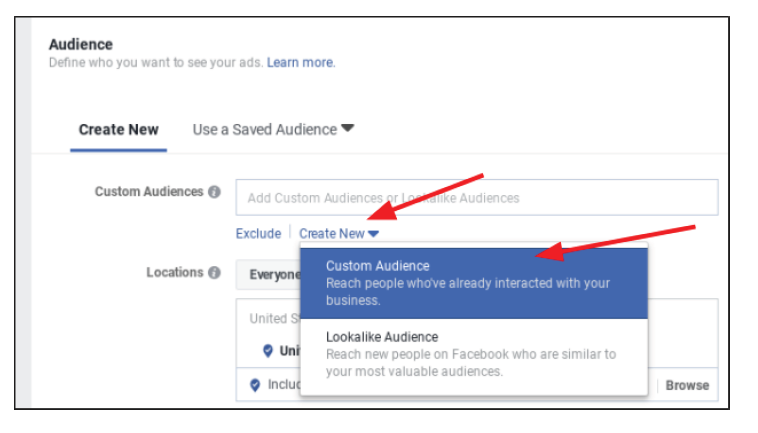 step 5 for fb business setting